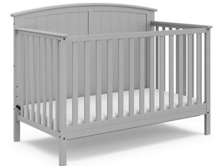 Storkcraft Steveston 4 in 1 Convertible Baby Crib  Pebble Gray