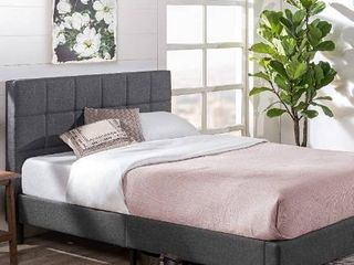 Zinus lottie Upholstered Platform Grey Bed Frame   Model   Queen