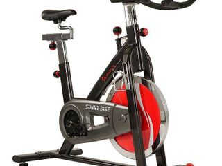 Sunny Health Fitness Indoor Exercise Cycle Bike w  49 lb Flywheel   SF B1002