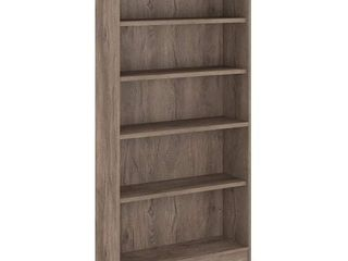 71 65  5 Universal Shelf Bookcase Rustic Gray   Bush Furniture