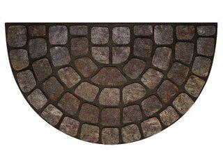 Achim Raised Rubber Doormat Stone Slice   Gray  18 x30