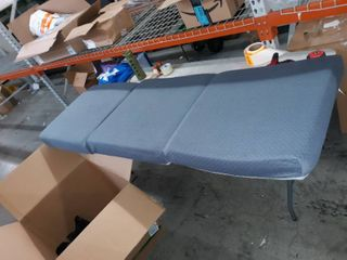 single person blue foldable cushion