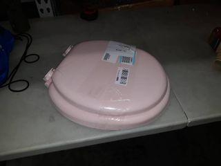 pink toilet lid