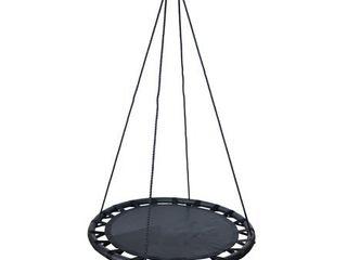 Fabric Spinner Swing 40  diameter   black