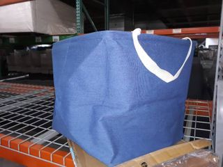 Navy fabric tote