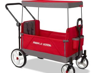 Radio Flyer Convertible Stroller Wagon with Canopy