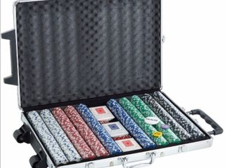 Poker Chip Set with Carrying Case