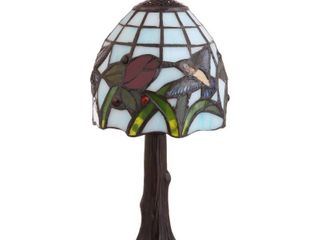 Hummingbird Tiffany Style 12  lED Table lamp  Bronze