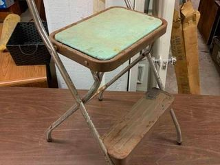 Vintage step stool and chair all in one
