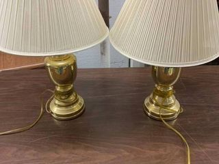 Pair of table top lamps