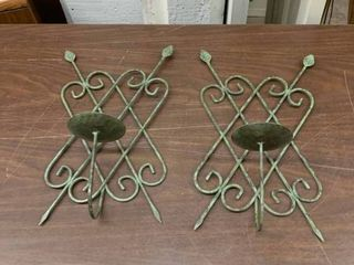 Outdoor metal candle wall sconces