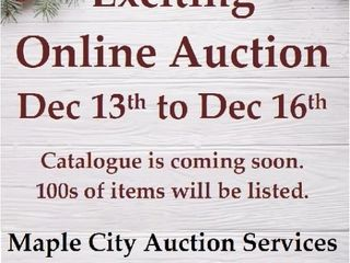Exciting Online Auction Runs Dec 13 to Dec 16