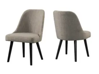 Brushed Pewter Upholstered Chairs   Set of 2