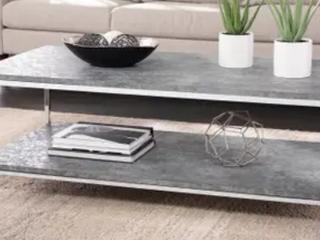 Silver Orchid Faux Concrete Cocktail Table