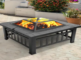 Zimtown Portable Courtyard Fire Pit