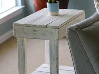 Reclaimed Wood End Table