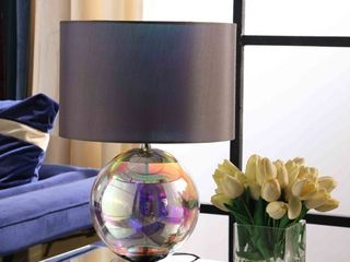 Artie ORG Iridescent Chrome Table lamps   Set of 2