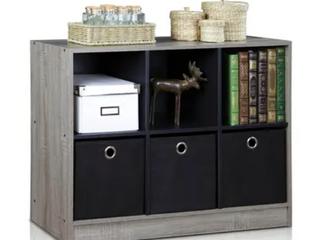 Porch   Den Szolo Basic Storage 6 Cube Bookcase Organizer w  3 Bins