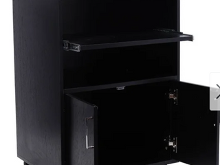 4 Shelf Wood Filing Mobile Cabinet