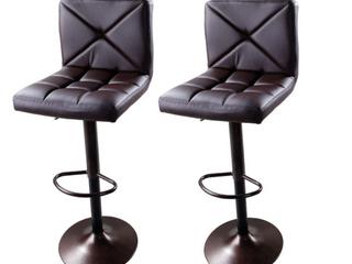 leather Barstools   Set of 2
