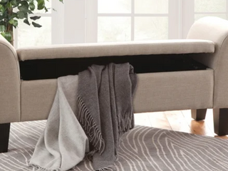 Upholstered Claire Storage Bench