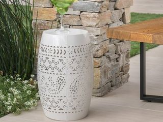Ruby Outdoor Round End Table by Christopher Knight Home