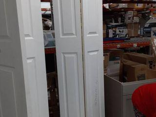 Tall White BiFold Hinged Door