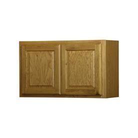 Diamond Now Kitchen Classics Portland 18 in x 30 in x 12 in Oak Portland Double Door Kitchen Wall Cabinet