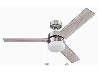 Ceiling Fan Brushed Nickel led Indoor light Kit led Bulb 3 blade Vue 44 in