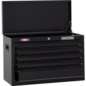 CRAFTSMAN Standard Duty 26 in W x 13 25 in H 5 Drawer Ball bearing Steel Tool Chest  Black