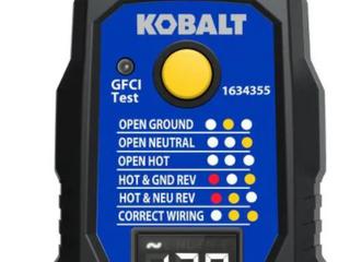 Kobalt GFCI Outlet Tester with Voltage Display