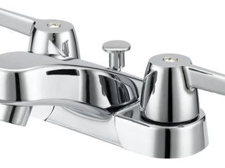 Project Source Chrome Bathroom Faucet 4in Centerset Mount