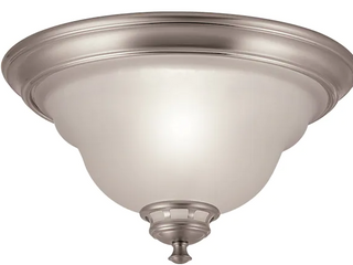 Project Source 13 in Fallsbrook Brushed Nickel Ceiling Flushmount light