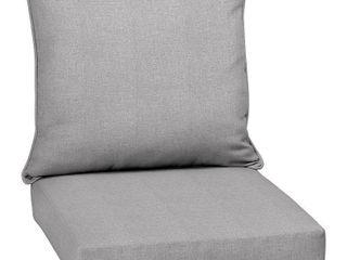 Paloma Woven Outdoor Cushion Set Gray   Arden Selections