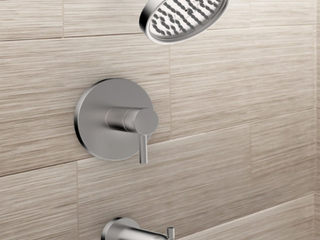 Jacuzzi Duncan Brushed Nickel Tub and Shower Faucet With Valve