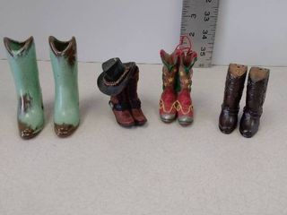 Collection of small cowboy boots  decorative