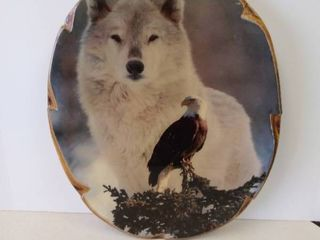 Wolf and Eagle wall hanging decor