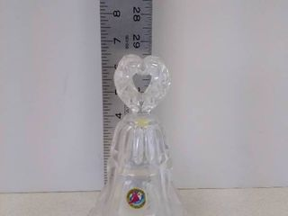 Hofbauer lead crystal heart glass Bell