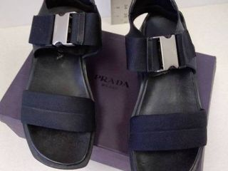 Prada Nastro Nylon Nero sandals