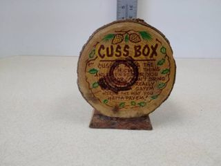 wooden cuss box