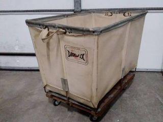 Dandux industrial canvas cart on wheels