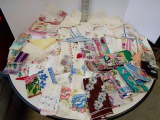 large lot of ladies handkerchiefs