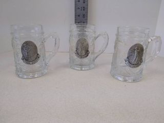 Golfing glass mugs  set of 3