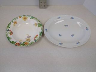 Steubenville bowl and Porcel platter