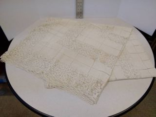 vintage tablecloth 4 ft by 7ft