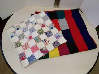 2 homemade quilted blankets