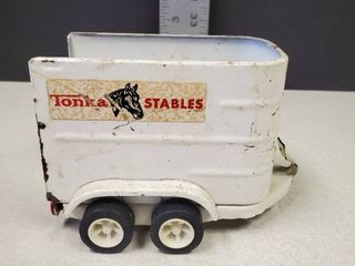 Vintage Tonka Stables Steel Horse Trailer