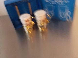 Bone China Salt and Pepper Shakers in Metal Holder