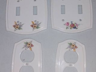 lot of 4 Porcelain light Switch and Socket Covers