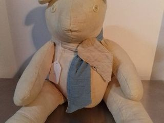 Handmade Quilted Bear with Creme Button Eyes That Needs Some love